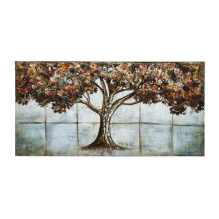 Brown Canvas Nature-themed Wall Art (55-inch x 28-inch)