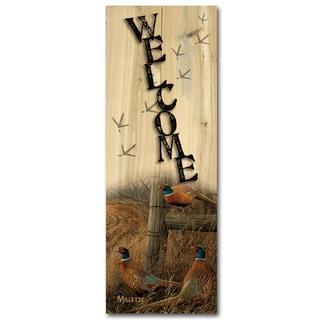 WGI Gallery Abandoned Fenceline Indoor/Outdoor Welcome Plaque/Sign Printed on Wood