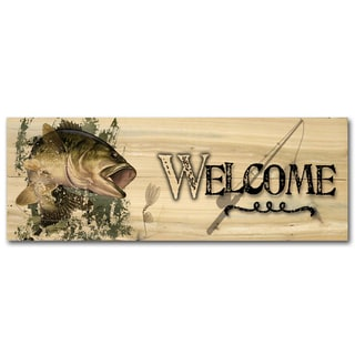 WGI Gallery Bass Wood Printed Indoor/Outdoor Welcome Plaque/Sign
