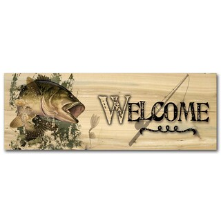 WGI Gallery Bass Wood Printed Indoor/Outdoor Welcome Plaque/Sign (2 options available)