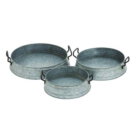 Metal Plntr Serving Tray (Set of 3)