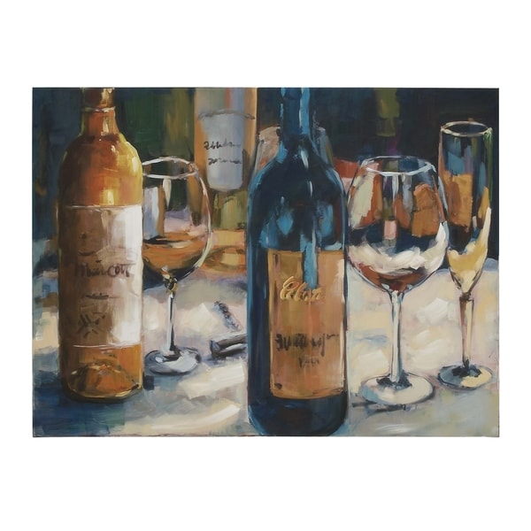 Shop Traditional 36 Inch Wine-Inspired Canvas Wall Art by Studio 350 ...