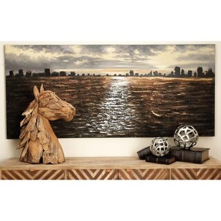 Stretched Canvas 32-inch x 71-inch Cityscape Wall Art