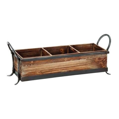 Wood Metal Serving Tray
