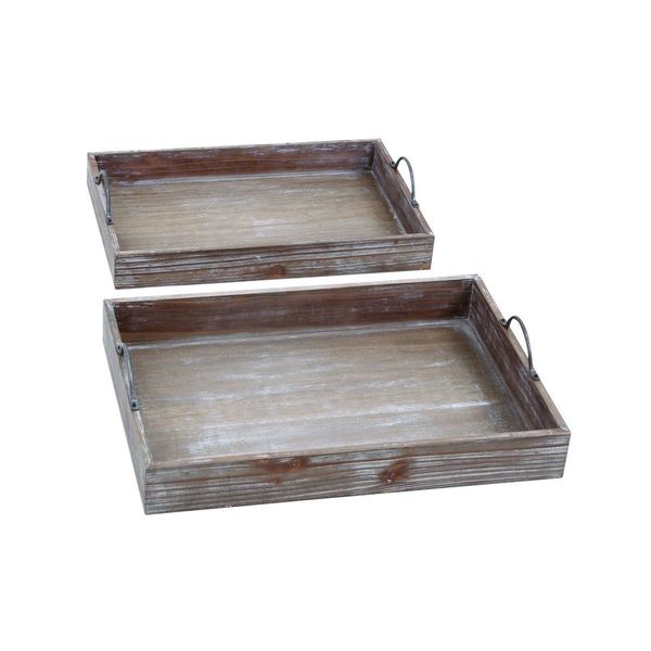 Good Wood Serving Tray (Set Of 2)