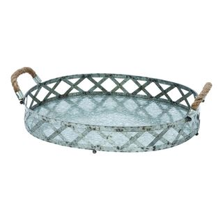 Metal Galvinized Serving Tray