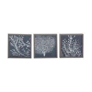 Polystone MDF 13-inch x 13-inch Framed Print (Set of 3)