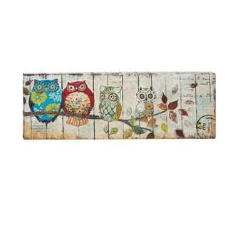 Owls Canvas 59-inch-wide, 20-inch-high Art
