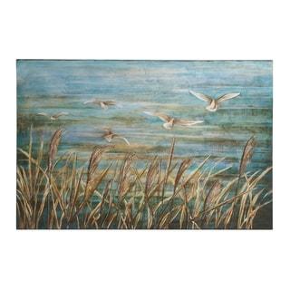 Blue/White 32-inch High x 47-inch Wide Canvas Art