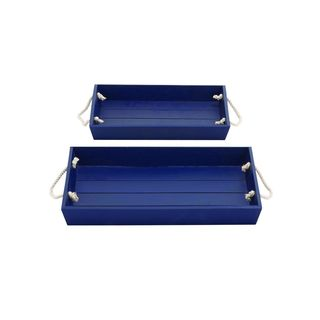 Wood Rope Serving Tray (Set of 2)