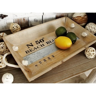 'Coastline' 2-piece Wood Tray Set