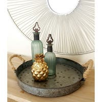 Metal Galvinized Rope Serving Tray