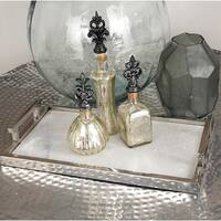 Stainless Steel Marble Serving Tray
