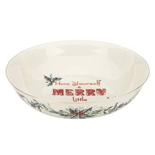 "Winter Greetings ""May Your Days Be Merry"" Serving Bowl"