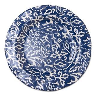 TAG Artisan Melamine Dinner Plates Blue