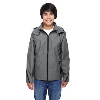 Conquest Boys' Graphite Nylon Sport Jacket With Fleece Lining