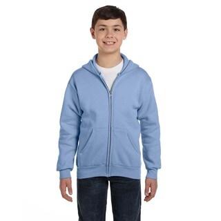 Comfortblend Boy's Ecosmart Light Blue Full-zip Hoodie Sweatshirt