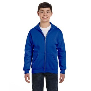 Comfortblend Boys' Deep Royal Ecosmart Full-Zip Hoodie Sweatshirt