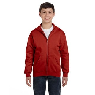 Comfortblend Boy's Ecosmart Deep Red Full-zip Hoodie Sweatshirt