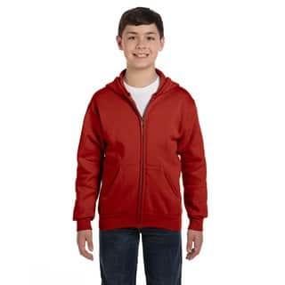 Comfortblend Boy's Ecosmart Deep Red Full-zip Hoodie Sweatshirt|https://ak1.ostkcdn.com/images/products/12179908/P19030485.jpg?impolicy=medium