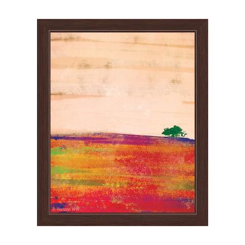 """Lonely Tree"" Orange Graphic Framed Art Print"