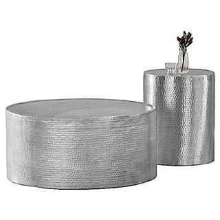 Lyric Hammered Side Table/Stool