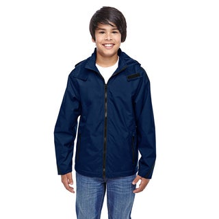 Conquest Boy's Dark Navy Nylon Sport Jacket with Fleece Lining Sport