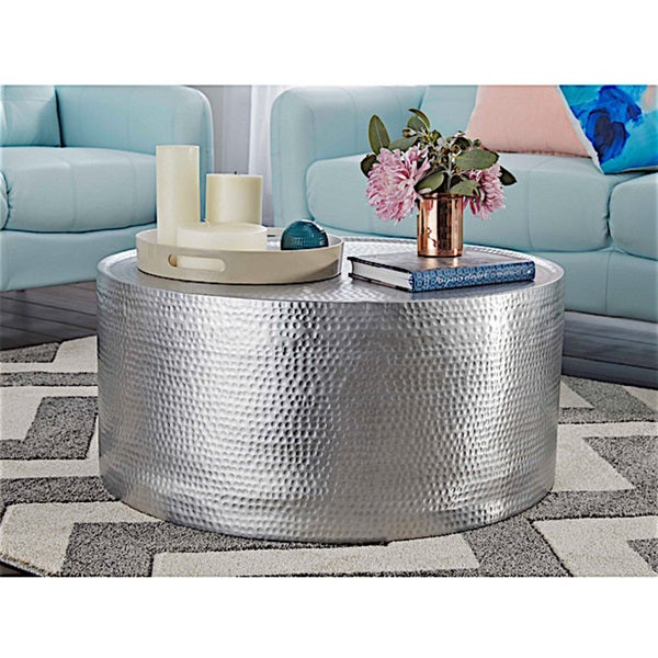 Lyric Hammered Coffee Table - Lyric Hammered Coffee Table - Free Shipping Today - Overstock.com