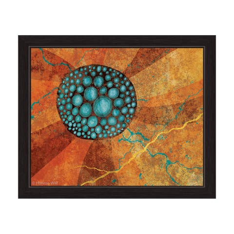 Flower Seeds - Blue Framed Graphic Art