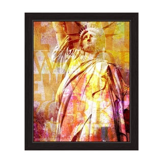 """Liberty Enlightening the World"" Graphic Framed Art Print"