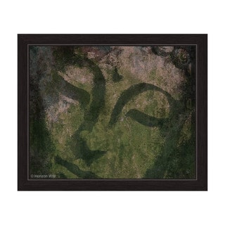 Weathered Buddha - Moss Framed Graphic Art
