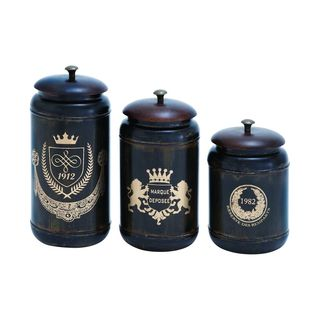 Silver Metal Storage Containers (Set of Three)