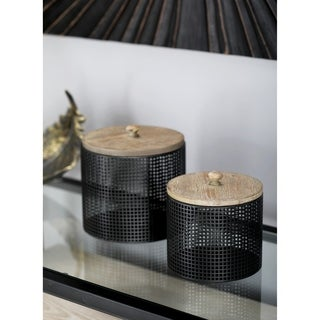 metal storage containers set of three