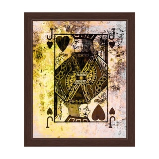 """""""The Jack of Hearts"""" Graphic Framed Art Print"""
