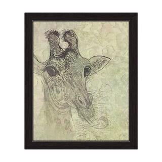 Cheeky Giraffe Framed Graphic Art