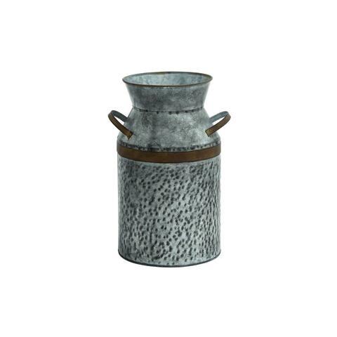 Silver Metal Storage Jars