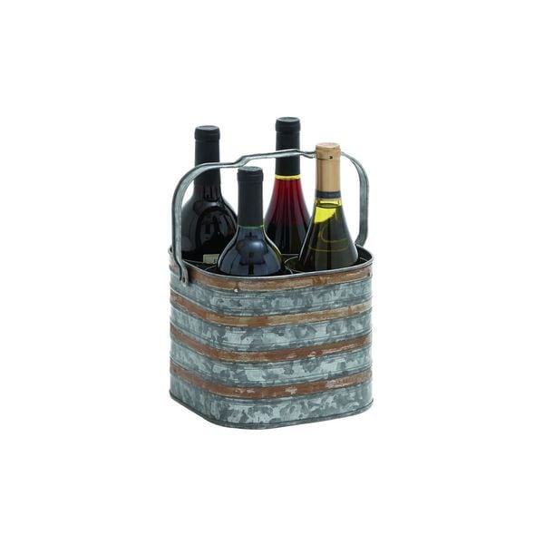 Brown Metal Wine Racks