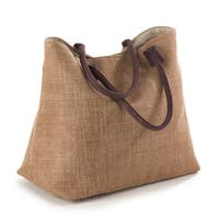 Taleen Collection Classic Design Jute Hobo Bag