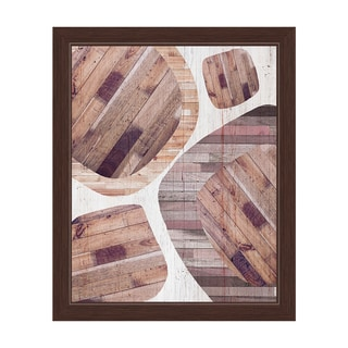 'Wood Overlay' Framed Graphic Wall Art