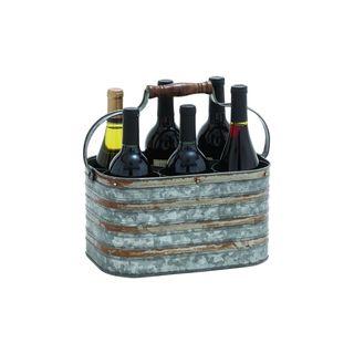 Grey, Red Metal Wine Racks