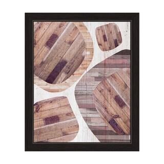 """Wood Overlay"" Graphic Framed Art Print"