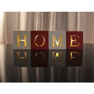"""Modern Design """"Home"""" or """"Love"""" Flamess LED Candle Set"""