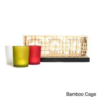 Modern Design Set of 3 Flameless LED Candles with Tray
