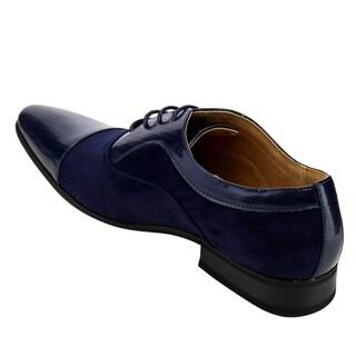 UV SIGNATURE FC81 Men's Lace Up Cap Toe Slip On Oxford Dress Shoes