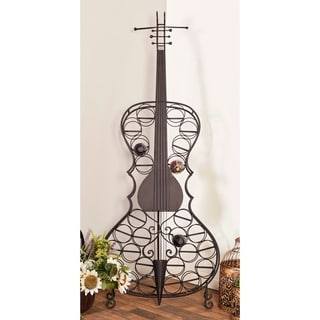 Eclectic 68 x 27 Inch Metal 26-Bottle Cello Wine Rack by Studio 350