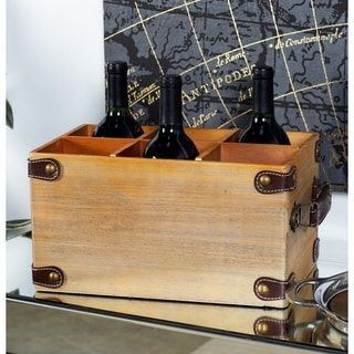 Brown, Yellow MDF Wine Racks