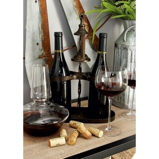 Rustic Style Metal Wine Holder