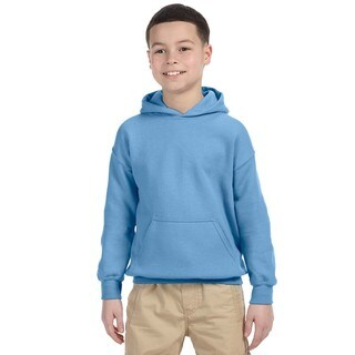 Boy's Carolina Blue Heavy Blend Hooded Sweatshirt
