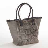 Taleen Collection Faux Fur Handbag
