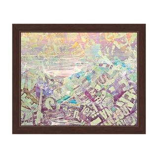 """Hazy Green"" Graphic Framed Art Print"